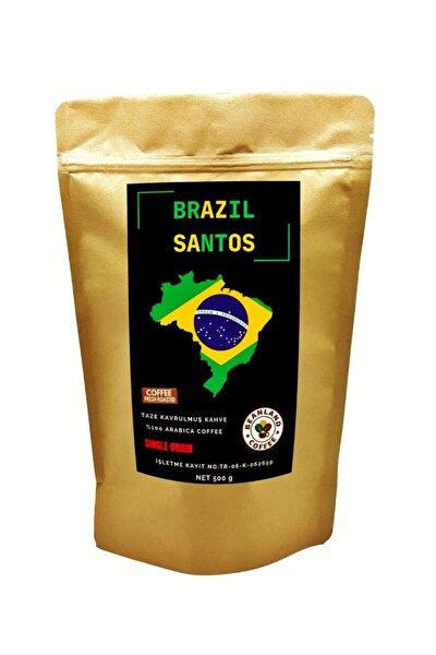 Brazil Santos Fine Cup Single Origin Yöresel Kavrulmuş Çekirdek Kahve 500 G
