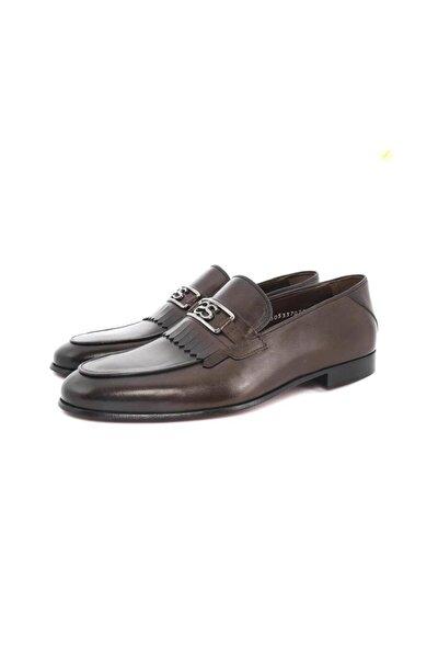 Erkek Loafer Model Manda Yavrusu Deri Kösele Taban Günlük Klasik Ayakkabı