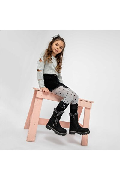 AJDA Siyah Kız Çocuk Çizme 100439302
