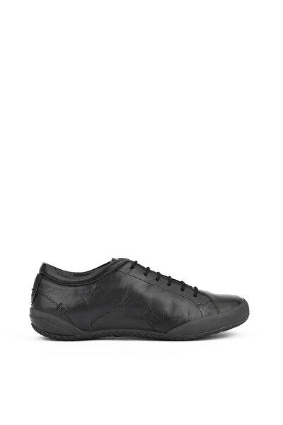 , Kadın Hakiki Deri Ayakkabı 111361 4160 Sıyah