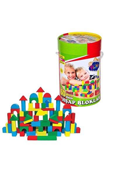 Playwood Renkli Ahşap Bloklar 60 Parça