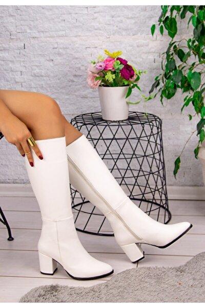 Kadın Beyaz Cilt Morena Çizme