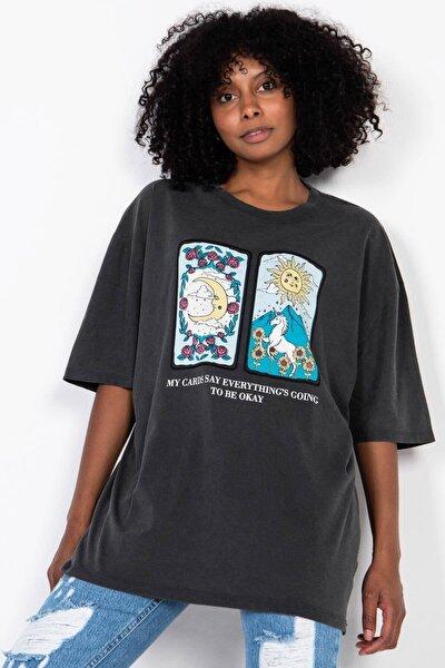 Baskılı T-shirt P9432 - G11