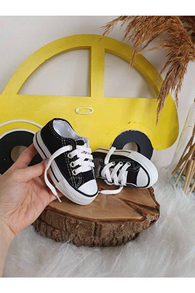 Unisex Bebek Siyah Star Sneaker