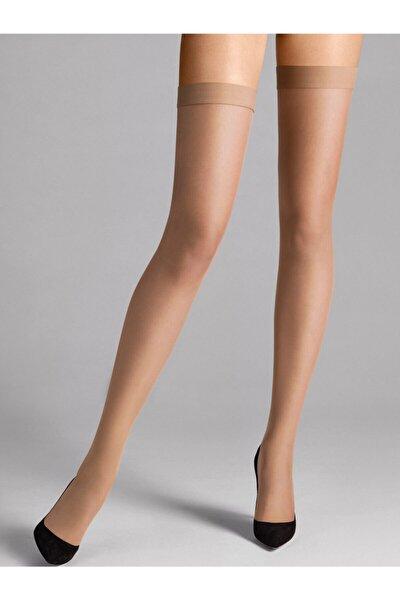 Kadın Ince Lastikli Dizüstü Çorap 6'lı Ten