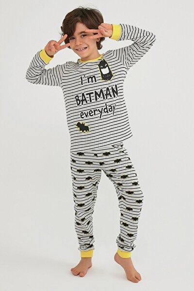Çok Renkli Erkek Çocuk Lıc Batman Ls 2li Pijama Takımı