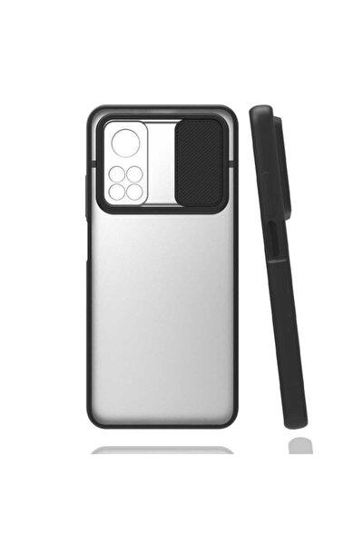 Xiaomi Mi 10t Pro Uyumlu Sürgülü Kamera Koruma Parmak İzi Bırakmayan Yüzeyli Darbeye Dayanıklı Kılıf