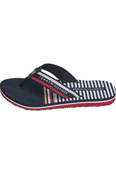 Stripy Flat Beach Sandalet