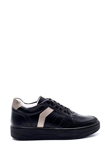 Kadın Siyah Platin Çizgili Sneaker