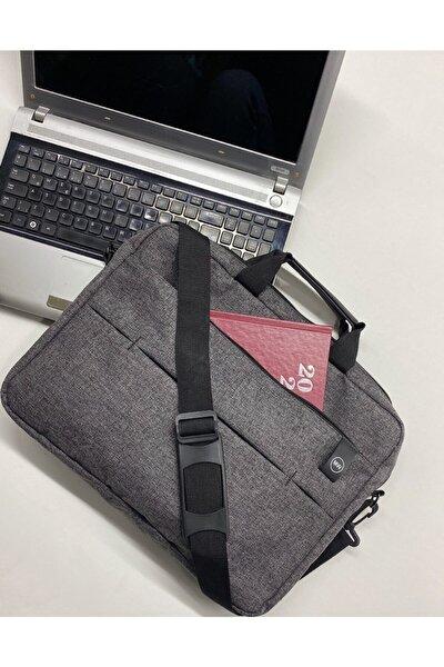 """Unisex West Serisi 15.6"""" Inç Gri Evrak Bilgisayar Notebook Laptop Çantası"""