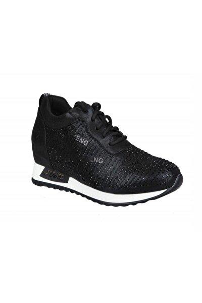 Kadın Siyah Yüksek Topuk Sneaker