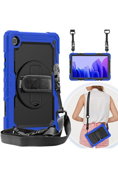 Samsung Galaxy Tab A7 Sm T500 T505 T507 Uyumlu 10.4 Inç Full Protection Zırh Standlı Kılıf