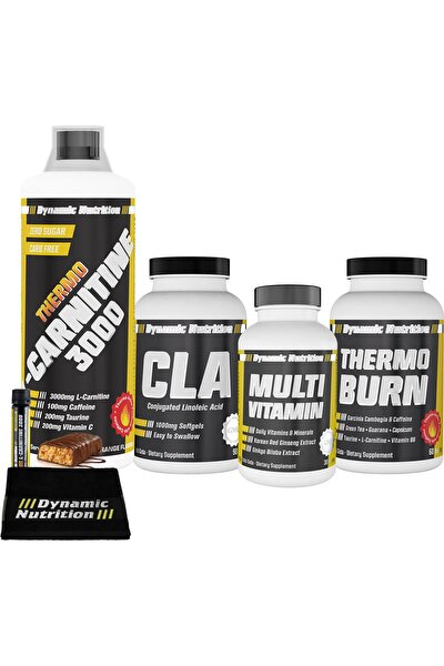 Thermo L-Carnitine 3000 mg 1000 ml+Thermo Burn 60 Tablet+CLA 90 Kapsül+Multivitamin 30 Tablet