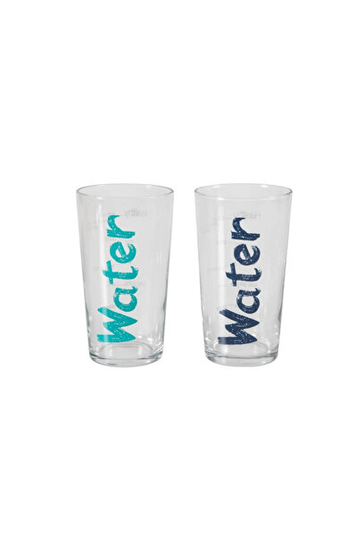 Water Bardak 570 ml 2'li Set -Mavi&Turkuaz 1202431001