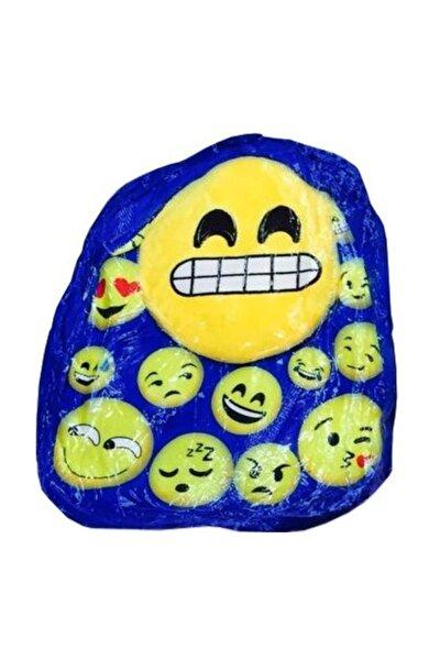 Emoji Peluş Çanta Mavi