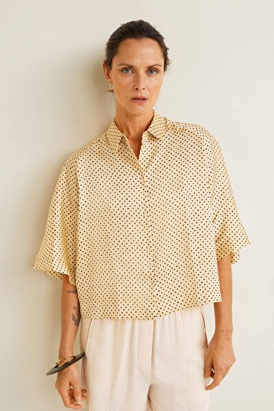 Kadın Sarı Puantiyeli Bluz 41065811