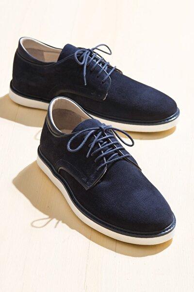 PERLEY Hakiki Deri Lacivert Erkek Oxford Ayakkabı