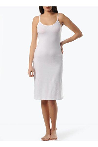 Freshness Kadın Modal Beyaz Askılı Jüpon Kombinezon