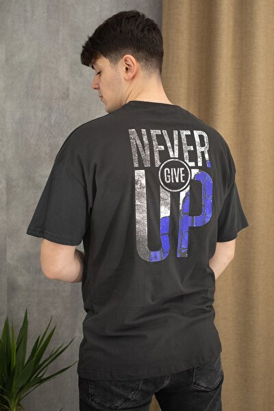 Oversize Never Give Up T-shirt