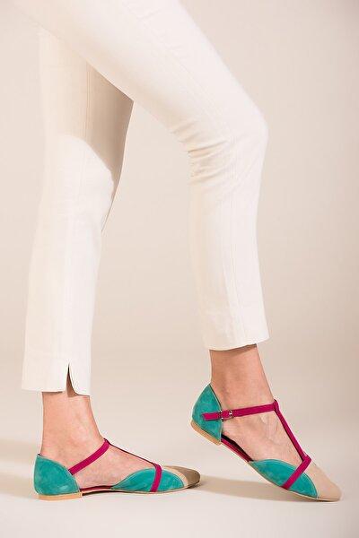 Ten Fuşya Yeşil Kadın Ayakkabı B726881802
