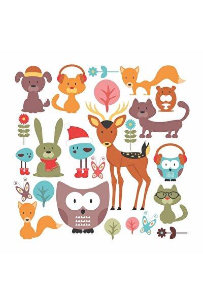 Orman Hayvanları Çocuk Odası Sticker