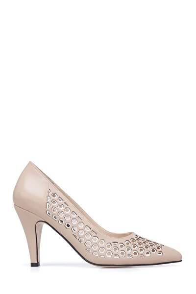 Bej Kadın Topuklu Ayakkabı K1244