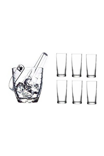 Rakı Bardağı Ve Buz Kovası Seti 8 Parça Pb52138-4