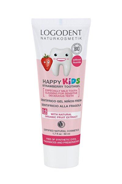 0-6 Yaş Çocuklar İçin Çilek Özlü Organik Diş Macunu - 50 ml
