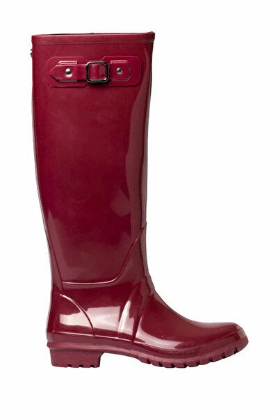 W10132-Z16 Bordo Kadın Yağmur Çizmesi 100319199