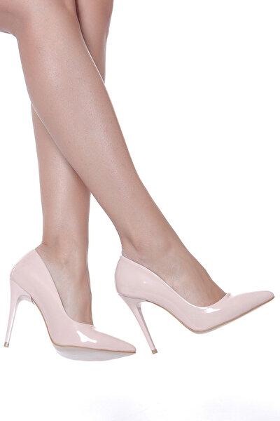 Pudra Kadın Topuklu Ayakkabı 18Y 708