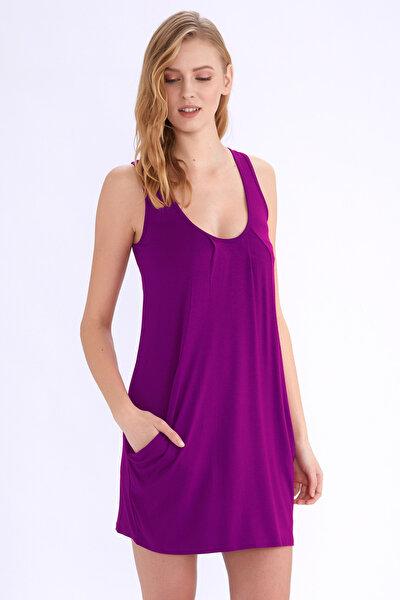 Kadın Mor Cepli Elbise 59430