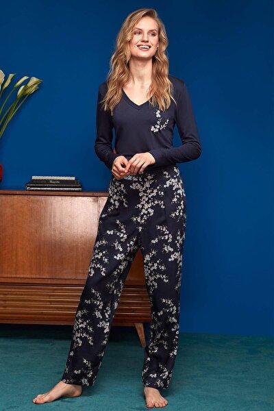 Penye Mood T-shirt Pantolon Pijama Takımı 8614