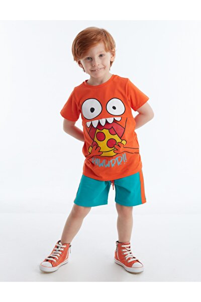 Pizza Boy Erkek Çocuk Şort Takım