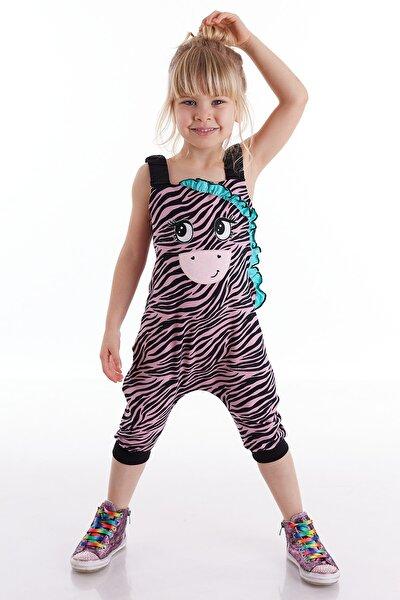 Zebra Fırfırlı Kız Tulum