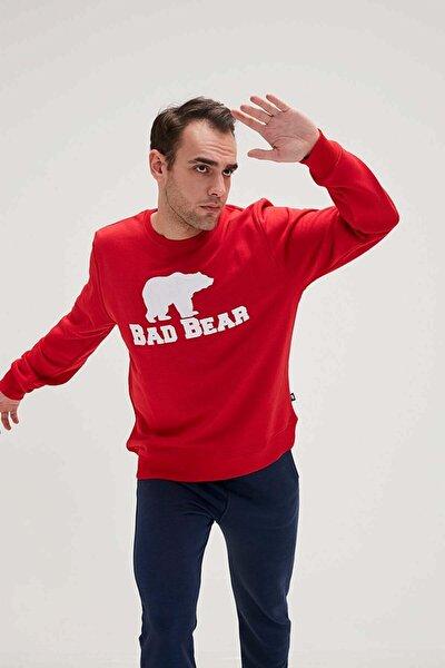 Erkek  Kırmızı Baskılı Sweatshirt 20.02.12.011