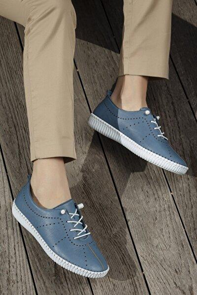 Kadın Mavi Günlük Ortopedik Sneaker D5021