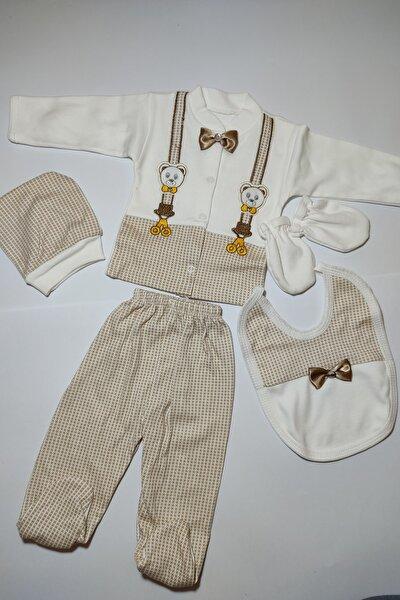 Erkek Bebek Papyonlu Hastane Çıkış Seti