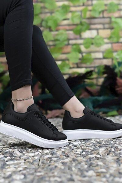Kadın  Siyah Beyaz Sneaker 0012201