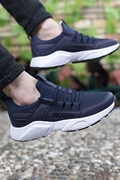 Unisex Lacivert Beyaz Sneaker