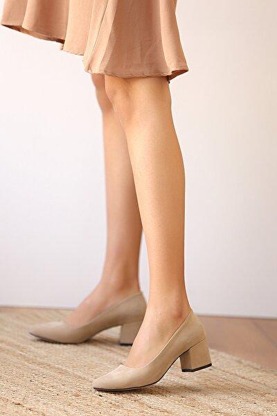 Kadın Tensüet Topuklu Ayakkabı