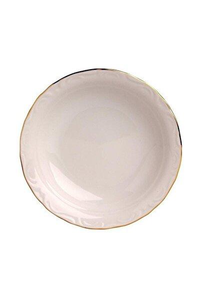 Porselen 12'li Altın Yaldız 20 Cm Çukur Tabak Prl010