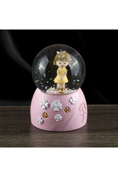 Erkek Kız Çocuk Figürlü Işıklı Kar Küresi (minik)