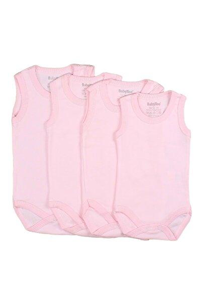 Bebek Badi Seti Kısakol Düz Renk 1-3-6-9 Aylık 4 Adet - Pembe - Yenidoğan
