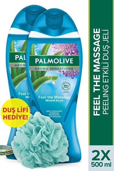 Aroma Sensations Feel The Massage Cilt Yenileyici Duş Jeli 2 X 500 ml + Duş Lifi Hediye