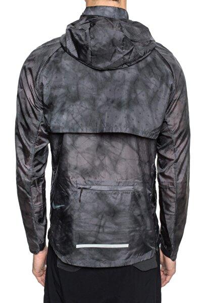 Erkek  Siyah Gri Tech Pack Running Hooded Ceket