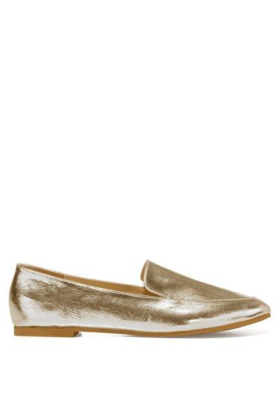 LEFUR Altın Kadın Loafer Ayakkabı 101028717
