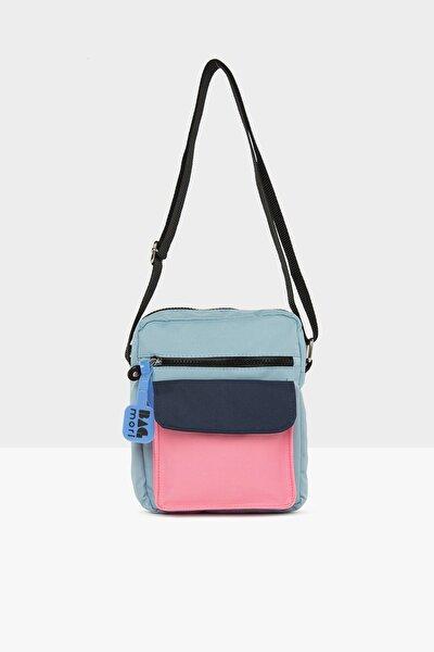 Kadın Mavi Cepli Mini Çanta M000005445