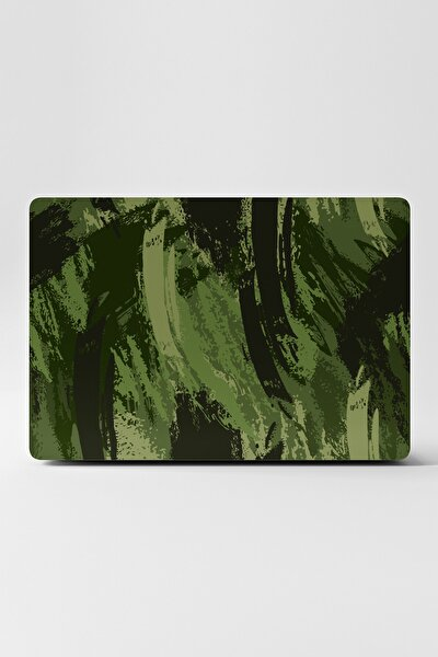 Laptop Sticker Kaplama Notebook Macbook Kamuflaj Yeşil