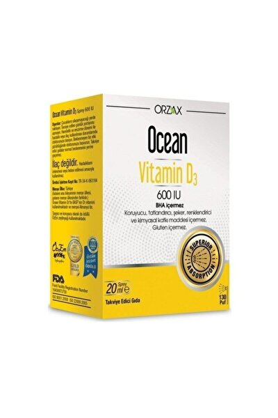 Ocean Vitamin D3 600 Iu (20 ml)