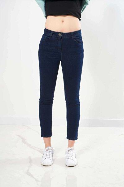 Kadın Lacivert Denim Pantolon
